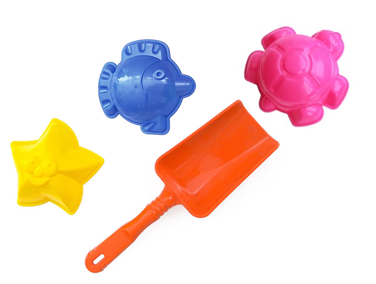 Игрушки Поволжья Набор для песочницы 3 формочки и лопатка 16,5 см