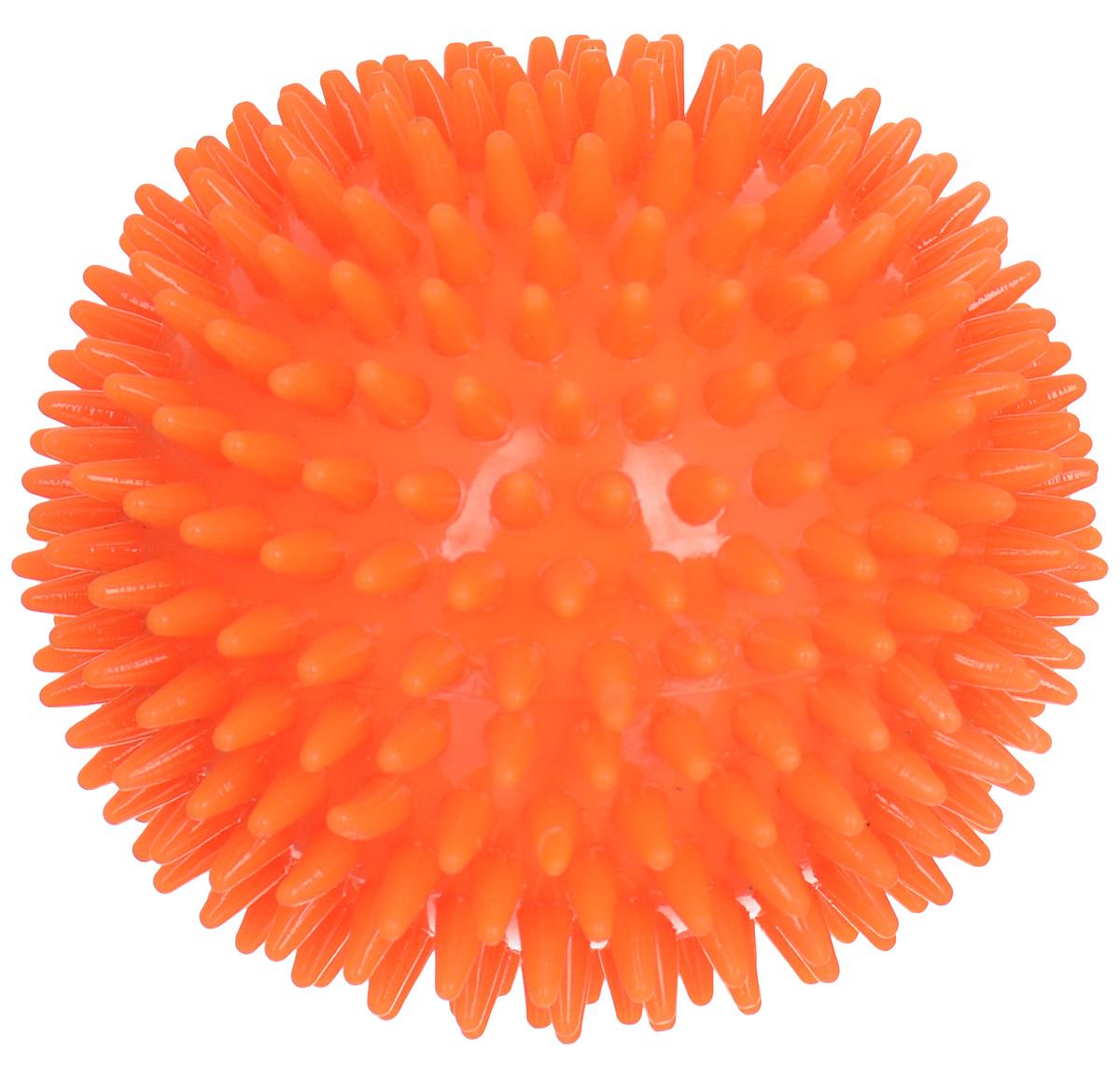 Мяч для собак Camon, шипованный, цвет: оранжевый, 10 смA307/A_оранжевыйИгрушка Camon для собак - это супер прочная, супер безопасная и супер увлекательная игрушка. Мячик при бросании отскакивает по непредсказуемой траектории. Что обеспечивает часы веселья и удовольствия. Запатентованный материал и дополнительные массажные элементы-шипы гарантируют, что ваша собака будет наслаждаться игрой с мячом в течение длительного времени. Очень прочный.Непредсказуемый отскок.Средний размер для собак весом от 6 до 15 кг.Мячик плавает.
