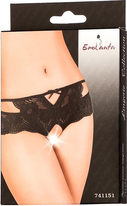 Трусы женские Erolanta Lingerie Collection, цвет:  черный.  741151.  Размер 42/44 Erolanta
