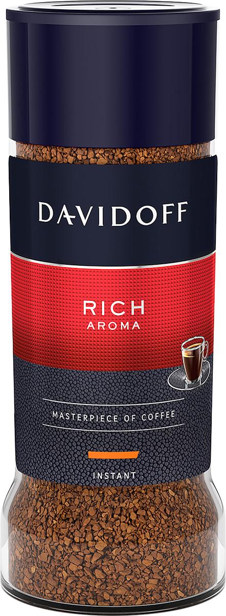 Davidoff Rich кофе растворимый, 100 г464386Davidoff Cafe Rich Aroma - это восхитительное сочетание насыщенного вкуса с элегантной кислинкой, дополненное пикантными, легкими фруктовыми нотками. Для создания совершенной кофейной композиции используются только специально отобранные зерна сорта Арабика. Безупречное качество этого кофе покорит самых искушенных ценителей.Кофе: мифы и факты. Статья OZON Гид