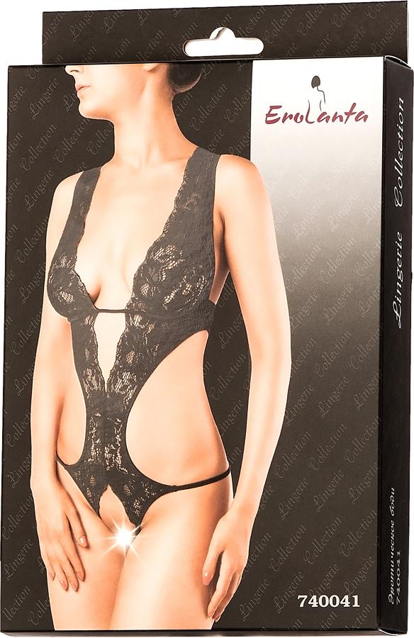 Боди эротическое Erolanta Lingerie Collection, цвет:  черный.  740041.  Размер 46/48 Erolanta
