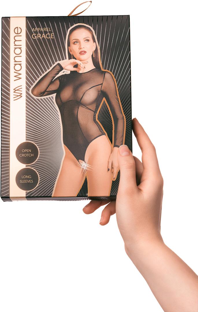 Боди эротическое Waname Apparel Grace, цвет:  черный.  490001.  Размер 50/52 Waname