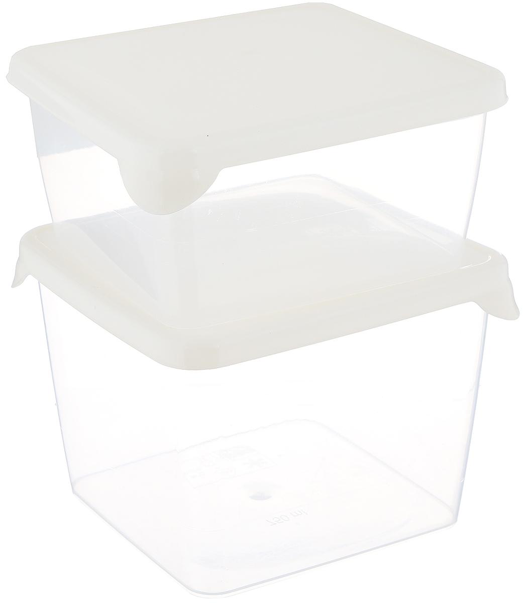 Комплект емкостей для продуктов Giaretti Браво, цвет: кремовый, прозрачный, 2 предметаGR1036_кремовыйКомплект емкостей для продуктов Giaretti Браво состоит из 2 контейнеров.Емкости изготовлены из пищевогополипропилена и оснащены крышками, которыеплотно закрываются, дольше сохраняя продукты свежими. Боковые стенкипрозрачные, чтопозволяет видеть содержимое.Емкости идеально подходят для храненияпищи, фруктов,ягод, овощей.Такой комплект пригодится в любом хозяйстве.