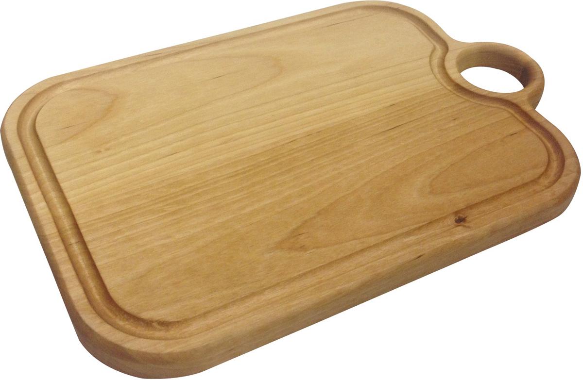 Доска разделочная из качественного дерева. Ей удобно пользоваться на кухне любой хозяйке. Остатки продуктов легко смываются водой. Доска оснащена отверстием для подвешивания на крючок. Такая доска прекрасно впишется в интерьер любой кухни и прослужит Вам долгие годы.
