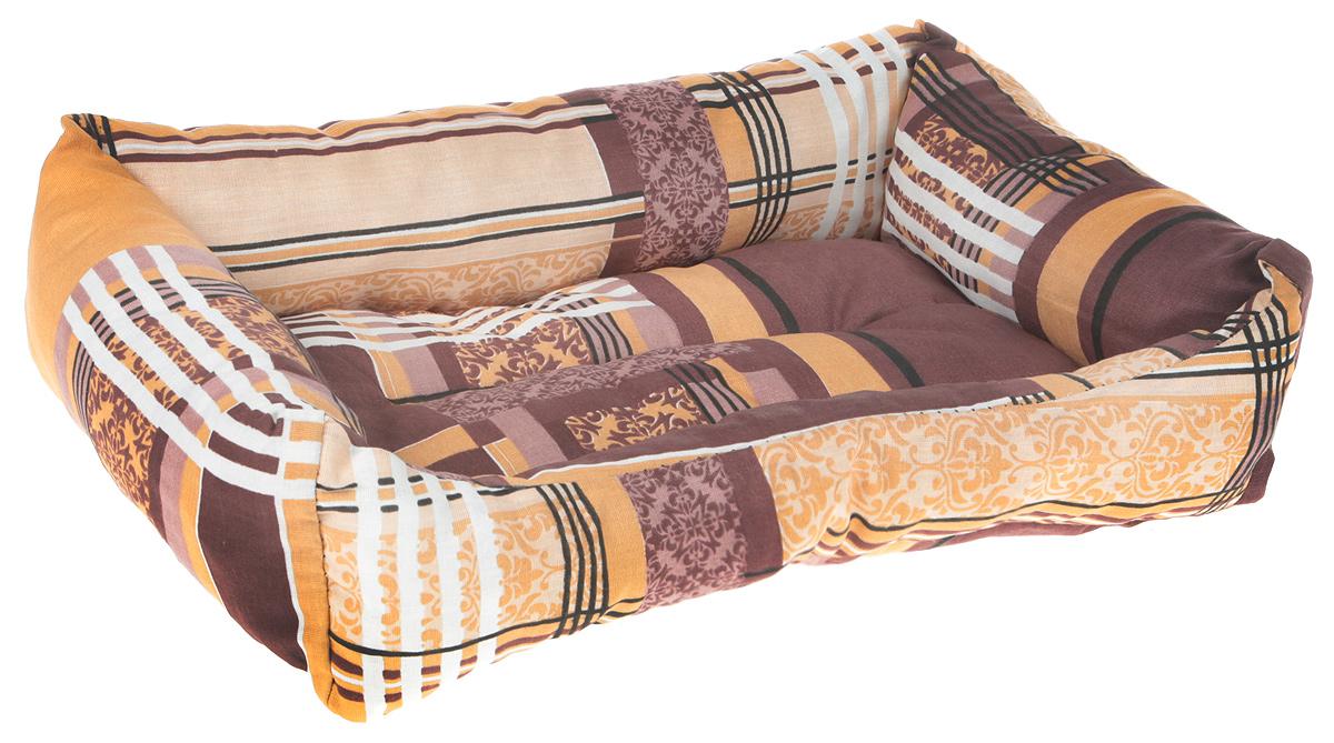 """Лежак для животных """"Elite Valley"""", цвет: коричневый, бежевый, 47 х 30 х 11 см"""