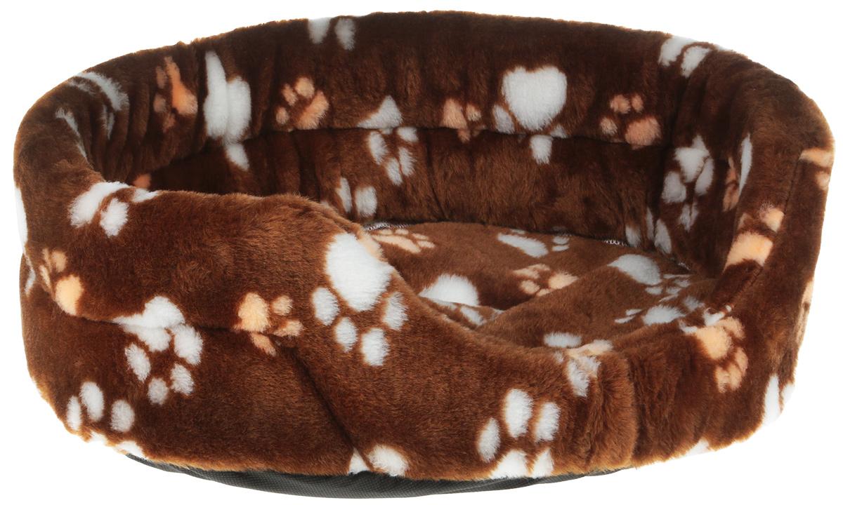 """Лежак для животных """"Elite Valley"""", цвет: светло-коричневый, бежевый, белый, 43,5 х 30 х 15 см. Л-2/2"""