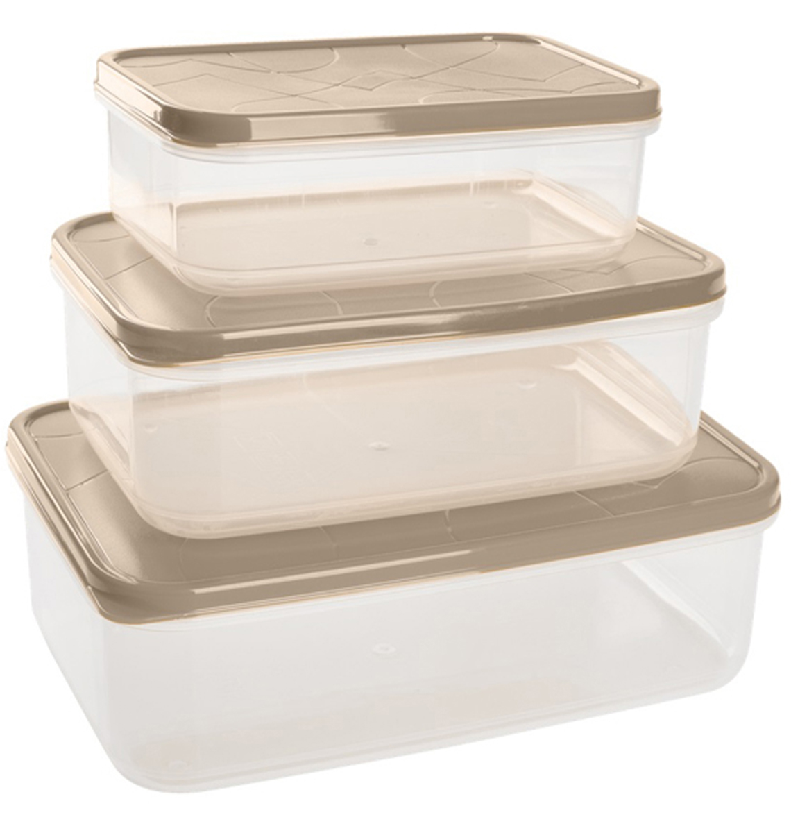 Набор контейнеров для продуктов Giaretti Vitamino, прямоугольные, цвет: микс зима, 3 штGR1856МИКС-ЗМПоложить в холодильник остатки еды, взять с собой обед в дорогу, заморозить овощи на зиму – все это можно сделать с контейнерами Vitamino. Контейнеры можно использовать для заморозки и хранения продуктов. Подходят для микроволновой печи. А благодаря плотной полиэтиленовой крышке, еда дольше сохраняет свою свежесть. Контейнеры вкладываются друг в друга по принципу матрешки, экономя пространство при хранении.