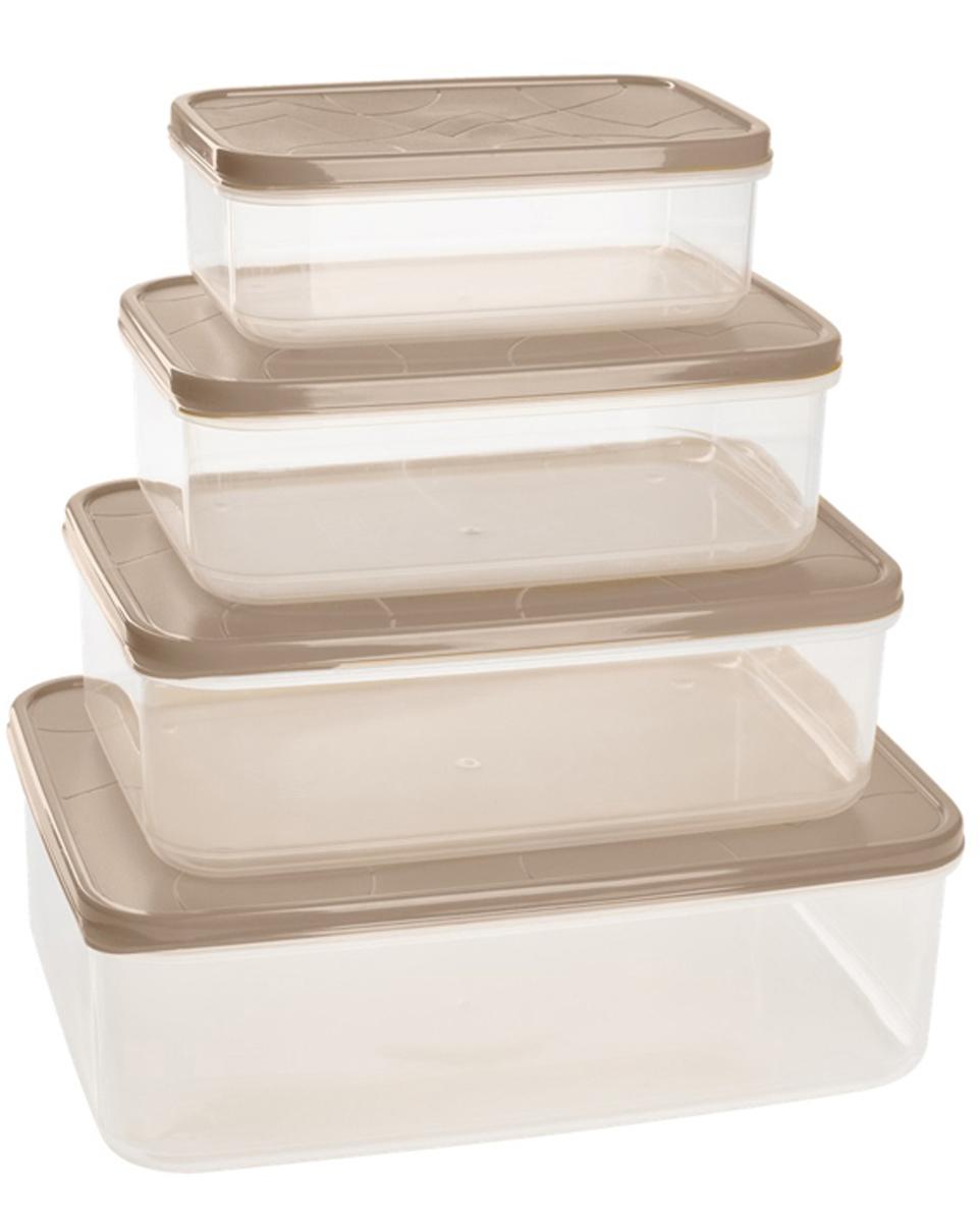 Набор контейнеров для продуктов Giaretti Vitamino, прямоугольные, цвет: микс зима, 0,5 л + 1 л + 1,5 л + 2,5 лGR1857МИКС-ЗМПоложить в холодильник остатки еды, взять с собой обед в дорогу, заморозить овощи на зиму – все это можно сделать с контейнерами Vitamino. Контейнеры можно использовать для заморозки и хранения продуктов. Подходят для микроволновой печи. А благодаря плотной полиэтиленовой крышке еда дольше сохраняет свою свежесть. Контейнеры вкладываются друг в друга по принципу матрешки экономя пространство при хранении.
