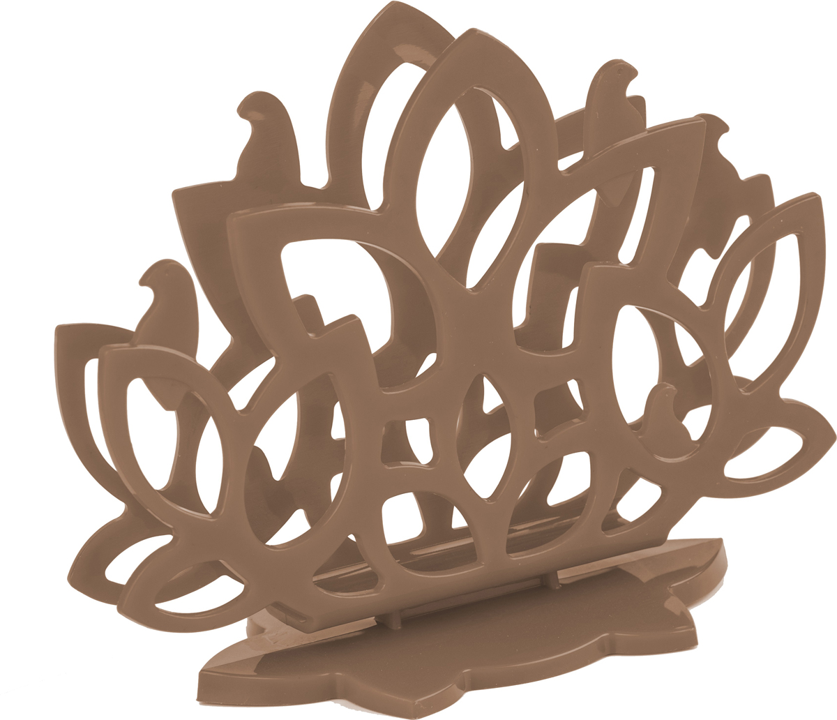 Салфетница Plastic Centre Камелия, цвет: кофейныйПЦ4053КФСалфетница из коллекции Камелия с авторским дизайном станет замечательной деталью сервировки и великолепным украшением праздничного и повседневного стола. Корпус имитирует пышную крону куста камелии, с сидящими на ветвях птицами. Изделие, несмотря на легкую конструкцию, отличается устойчивостью и удобством использования. Благодаря столь аккуратному дизайну, салфетница может использоваться как дома, так в барах, ресторанах, кафе.