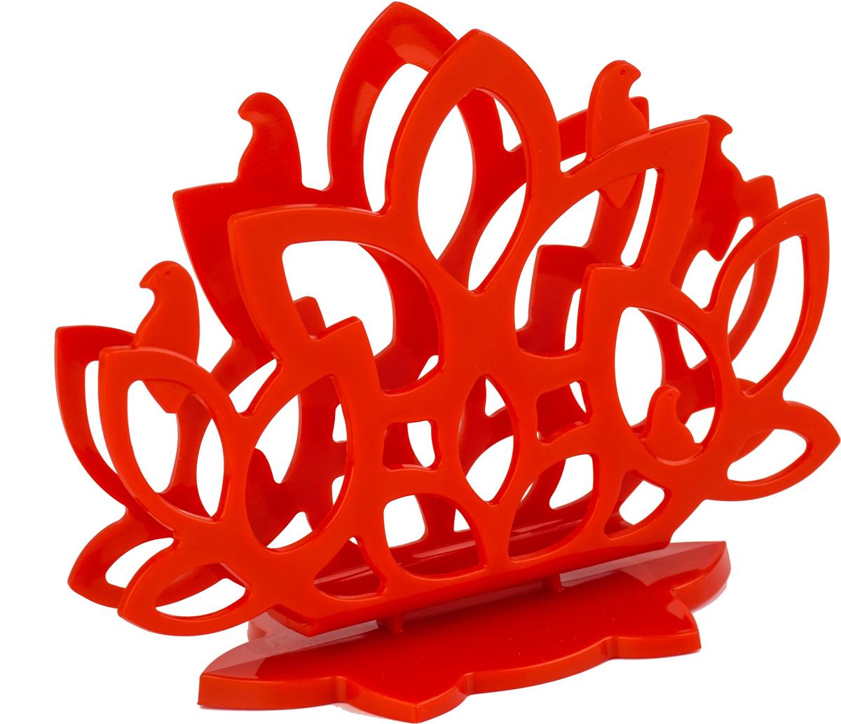 Салфетница Plastic Centre Камелия, цвет: красныйПЦ4053КРСалфетница из коллекции Камелия с авторским дизайном станет замечательной деталью сервировки и великолепным украшением праздничного и повседневного стола. Корпус имитирует пышную крону куста камелии, с сидящими на ветвях птицами. Изделие не смотря на легкую конструкцию, отличается устойчивостью и удобством использования. Благодаря столь аккуратному дизайну, салфетница может использоваться как дома, так в барах, ресторанах, кафе.