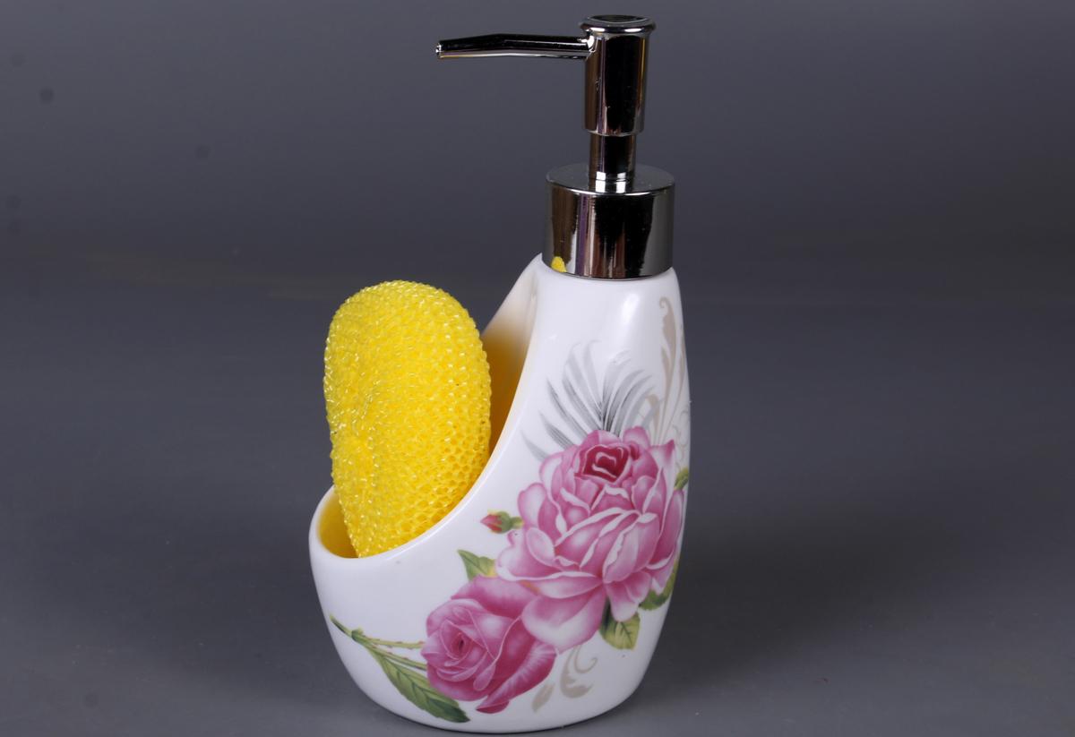 Дозатор для мыла Olaff. XX-Y-YG-B4785XX-Y-YG-B4785SOAP DISPENSER, дозатор для жидкого мыла с подставкой под губку, подарочная упаковка