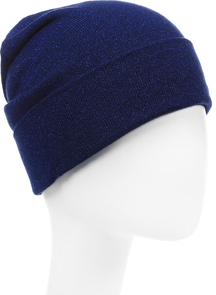 Шапка вязаная женская Stilla, цвет: темно-синий. SH-1767/03. Размер 52/58 шапки mialt шапка