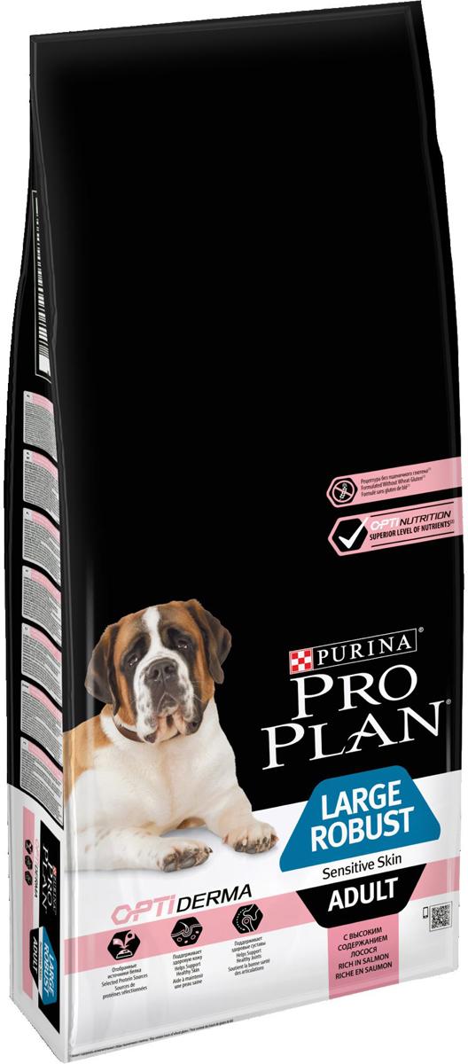 Корм сухой Pro Plan  Adult Sensitive , для взрослых собак крупных пород мощного телосложения и с чувствительной кожей, с лососем, 14 кг - Корма и лакомства