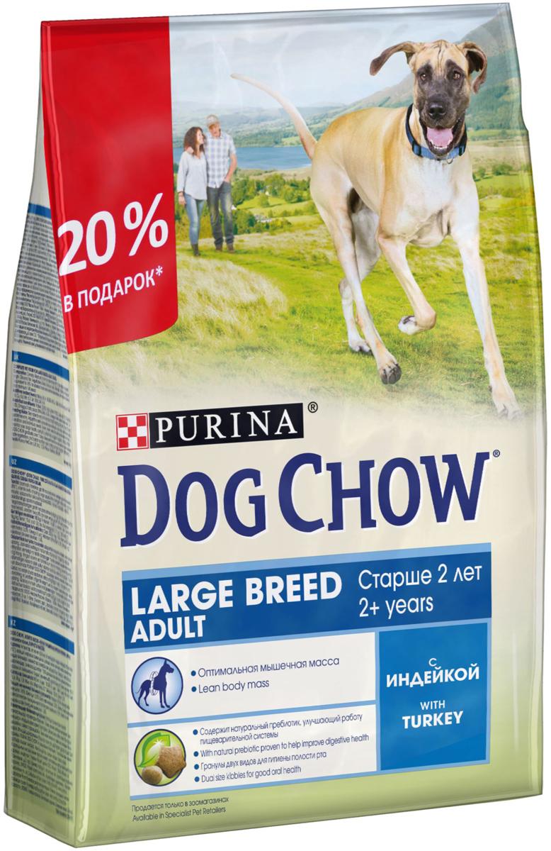 Корм сухой  Dog Chow , для взрослых собак крупных пород, с индейкой, 2,5 кг - Корма и лакомства
