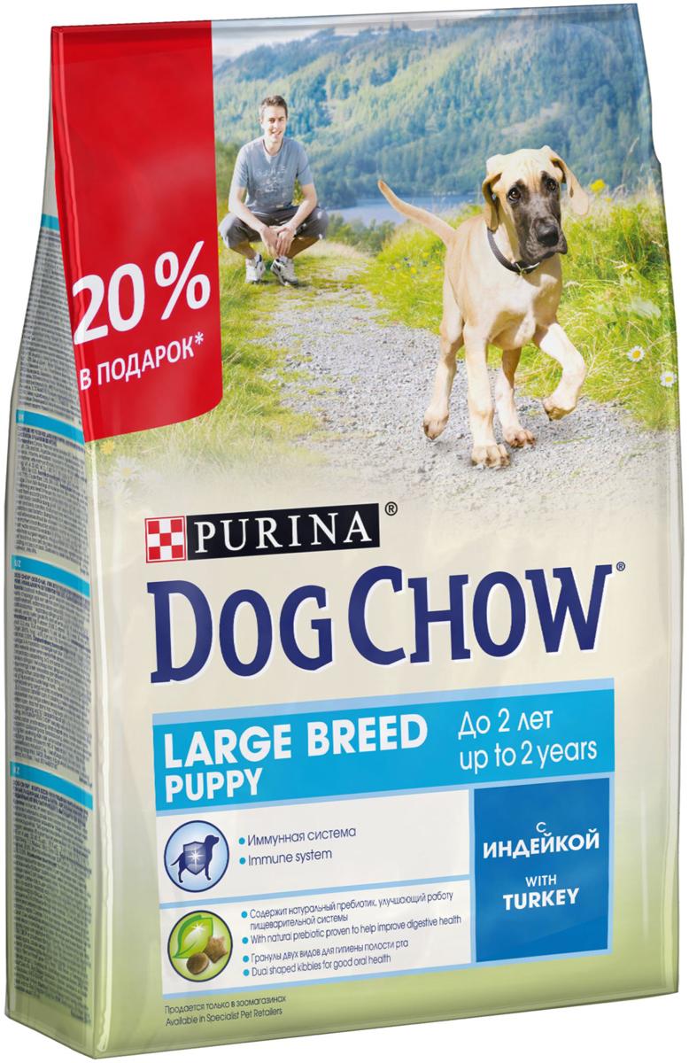 Корм сухой Dog Chow  Puppy , для щенков крупных пород до 2 лет, с индейкой, 2,5 кг - Корма и лакомства