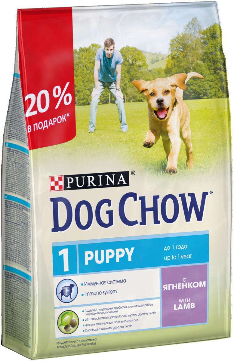 Корм сухой Dog Chow  Puppy , для щенков крупных пород до 1 года, с ягненком, 2,5 кг - Корма и лакомства