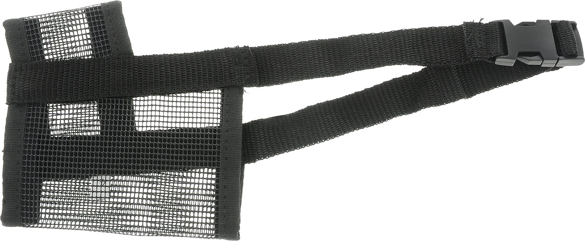 Намордник для собак Dezzie, цвет: черный, размер XXL5601146_черныйНамордник для собак Dezzie, изготовленный из мягкой и легкой нейлоновой сетки, легко стирается. Изделие удобно и красиво облегает морду собаки, не сковывая ее движения. Изделие подходит для крупных собак и имеет удобную застежку.