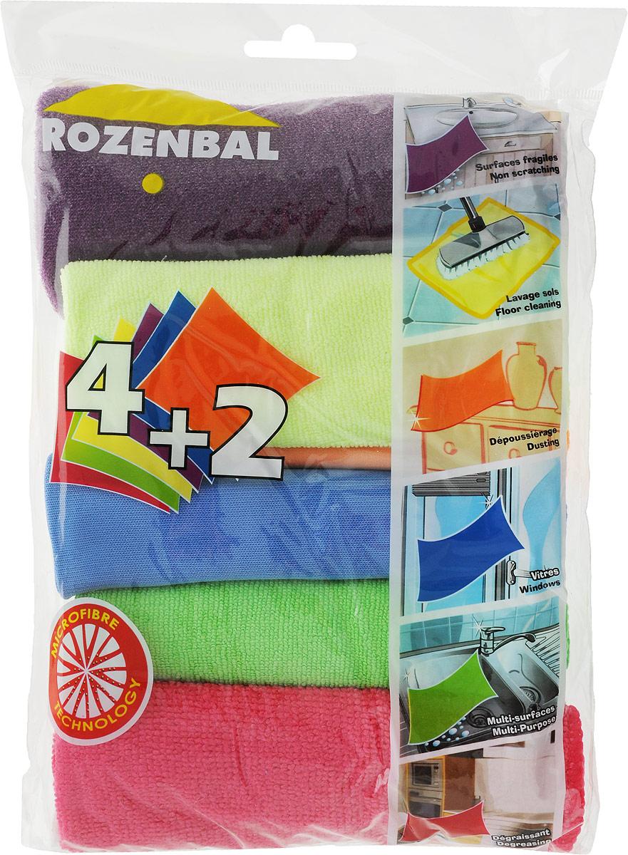 Набор тряпок Rozenbal, из микрофибры, 6 шт. R215055R215055