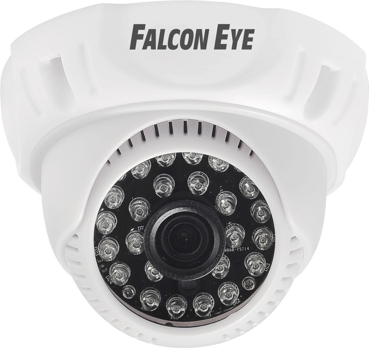 Falcon Eye FE-D720MHD/20M камера видеонаблюденияFE-D720MHD/20MFalcon Eye FE-D720MHD/20M - купольная видеокамера с разрешением HD (1280x800), которая имеет поддержку стандартов AHD-M/HD-CVI/HD-TVI/CVBS, ИК-подсветку до 20 м, а также переключение режимов с помощью кнопки.Данная модель имеет матрицу CMOS 1/4 H42, чувствительность 0.05 люкса, день/ночь, AWB, BLC, AGC. Встроенный объектив имеет фиксированный угол обзора 60°.Организация видеонаблюдения с помощью камер Falcon Eye MHD проста и понятна за счет небольших размеров, специальной конструкции для крепления и поддержки большинства популярных стандартов.