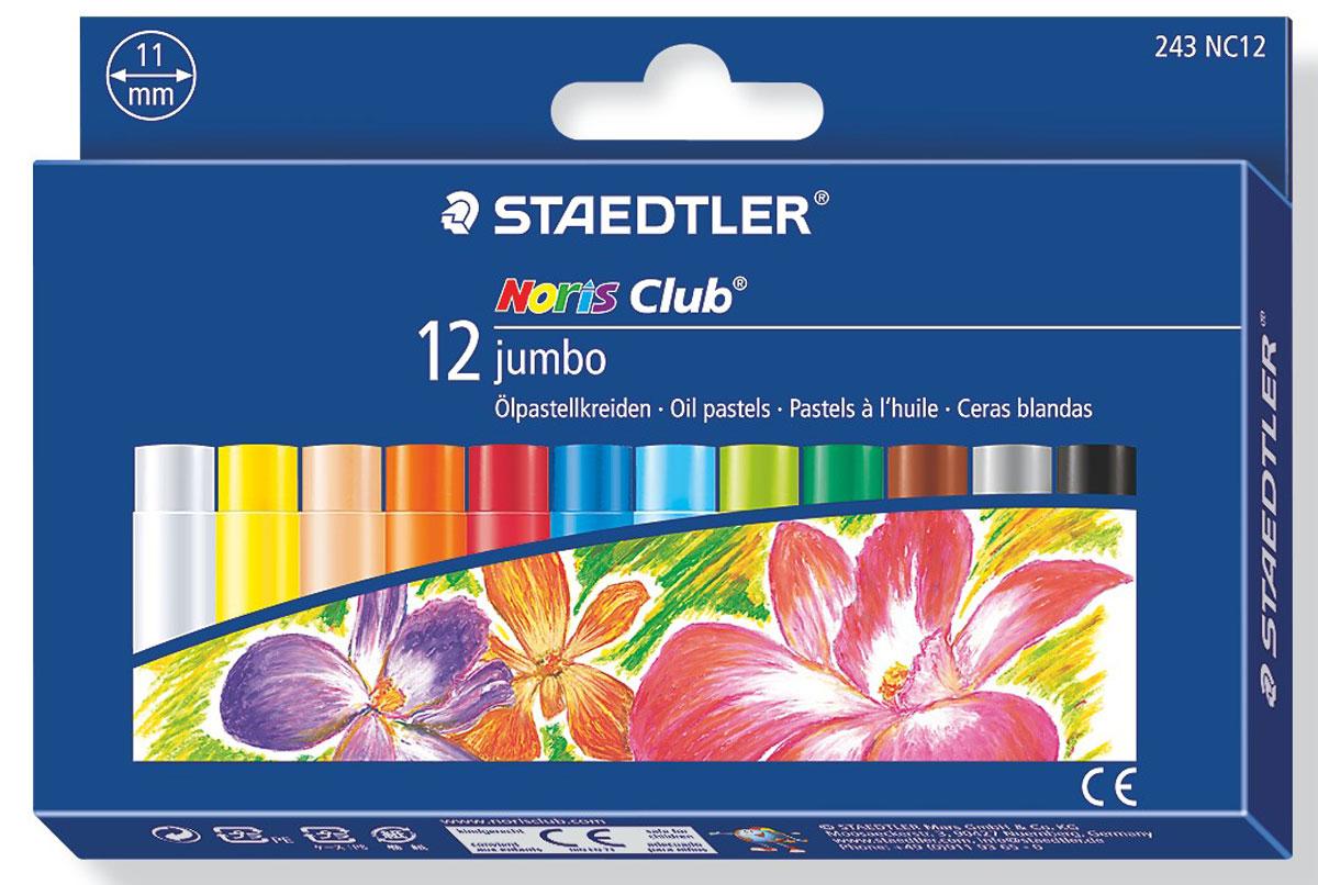 Staedtler Пастель масляная Noris Club Jumbo 12 цветов -  Мелки и пастель