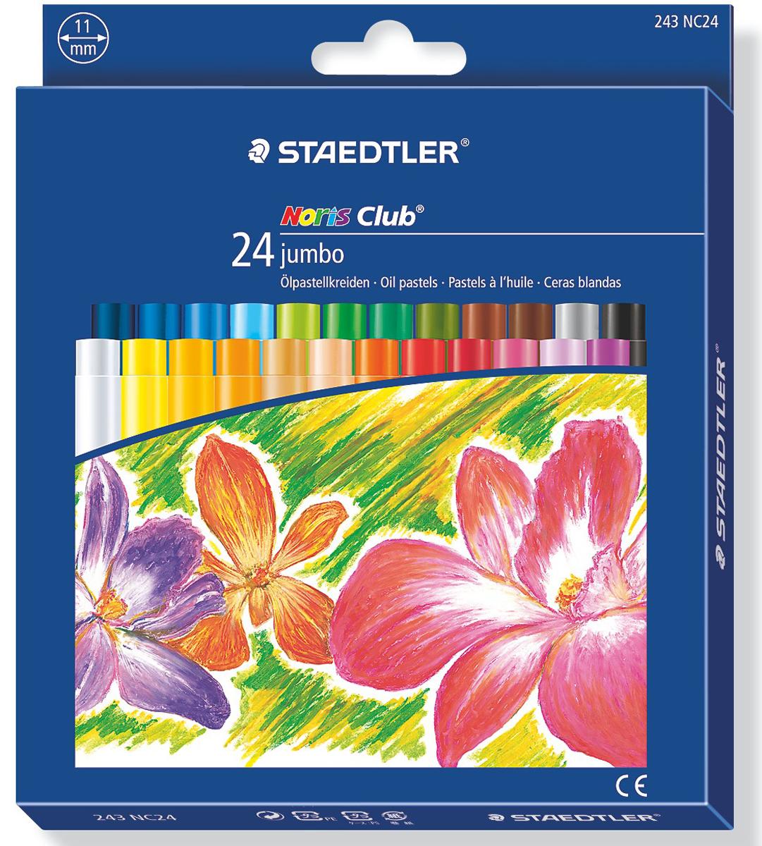 Staedtler Пастель масляная Noris Club Jumbo 24 цвета -  Мелки и пастель