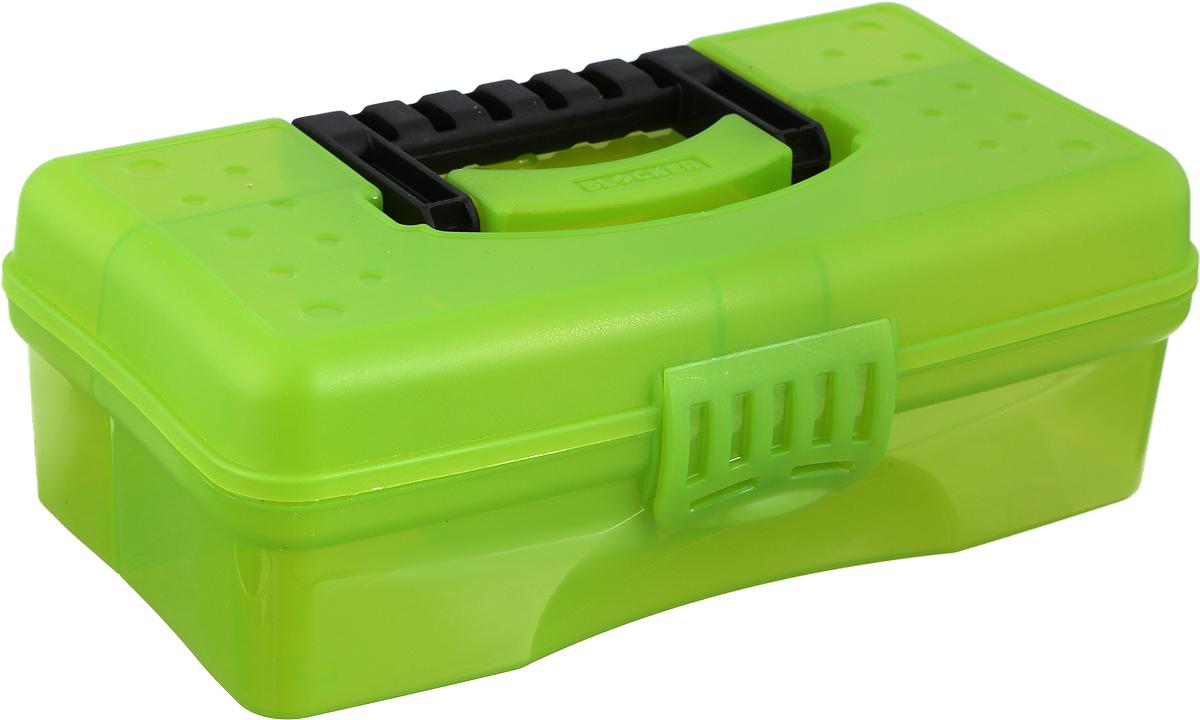 """Органайзер Blocker """"Hobby Box"""" изготовлен из высококачественного прочного пластика и предназначен для хранения и переноски небольших инструментов, рыболовных принадлежностей и различных мелочей.Оснащен 4 секциями. Надежно закрывается при помощи пластмассовой защелки. На крышке имеется ручка для удобной переноски изделия.Размер самой большой секции: 22,5 х 7 х 5,5 см.Размер самой маленькой секции: 6,5 х 4,5 х 5,5 см."""