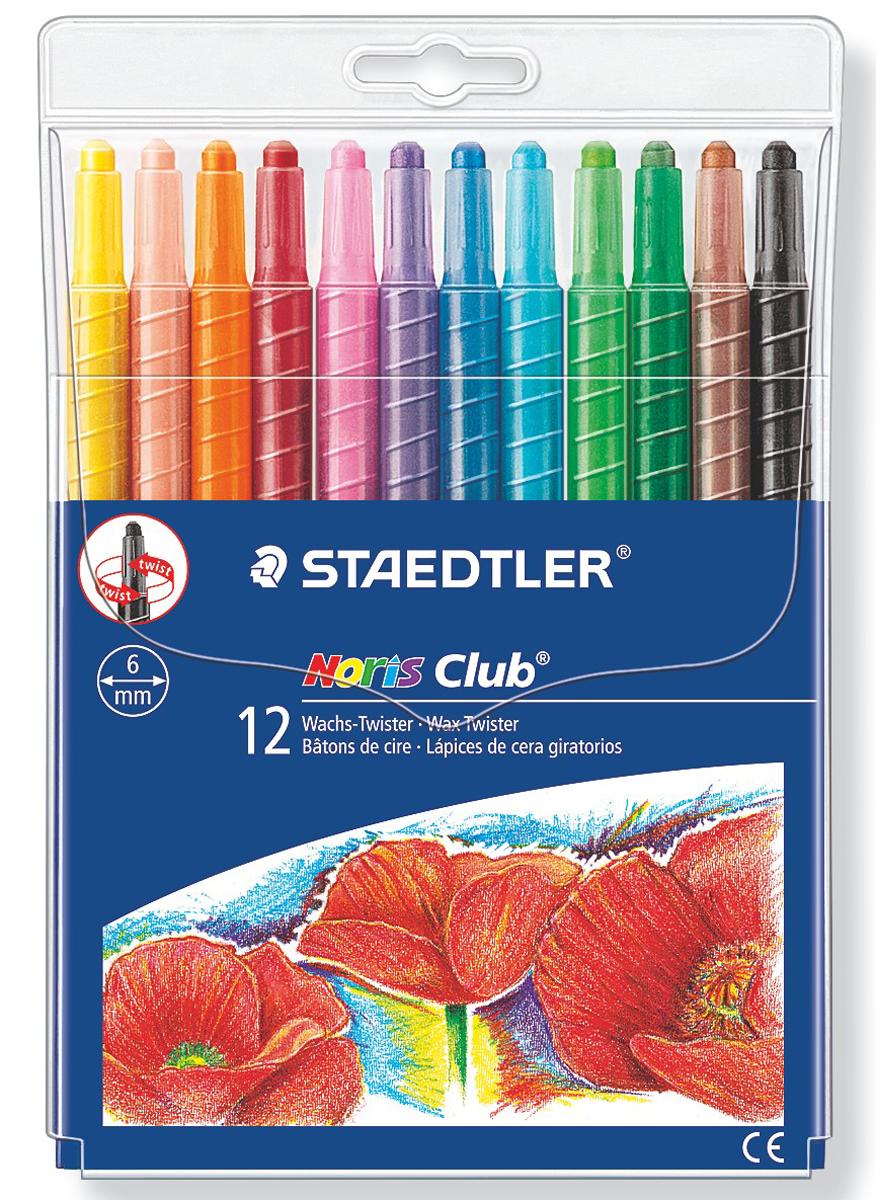 Staedtler Мелок восковой Noris Club 12 цветов 221NWP12221NWP12Набор мелков Staedtler Noris Club имеет восковой грифель. Легко пользоваться: повернуть и рисовать.Высокая устойчивость к поломке. Четкие линии.12 ярких насыщенных цветов в ассортименте в блистере. Диаметр: 6 мм.