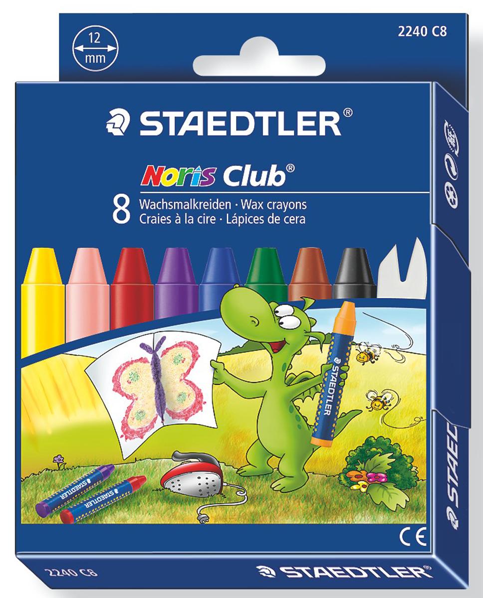 Staedtler Мелки восковые Noris Club Jumbo 8 цветов -  Мелки и пастель