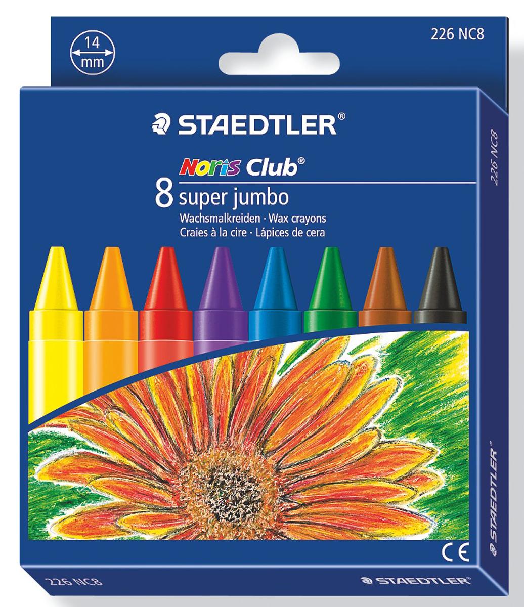 Staedtler Мелок восковой Noris Club Super Jumbo 8 цветов -  Мелки и пастель
