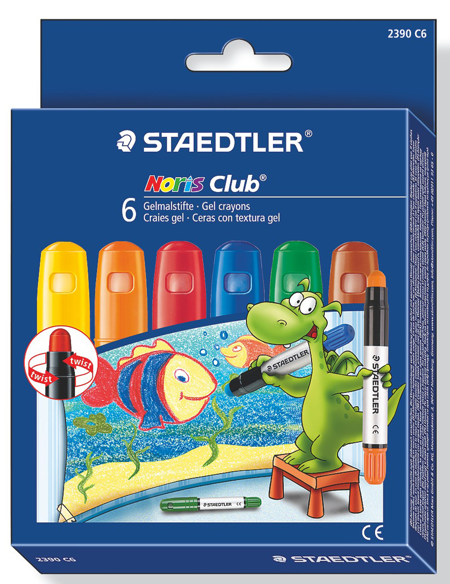 Staedtler Мелки гелевые Noris Club 6 цветов -  Мелки и пастель