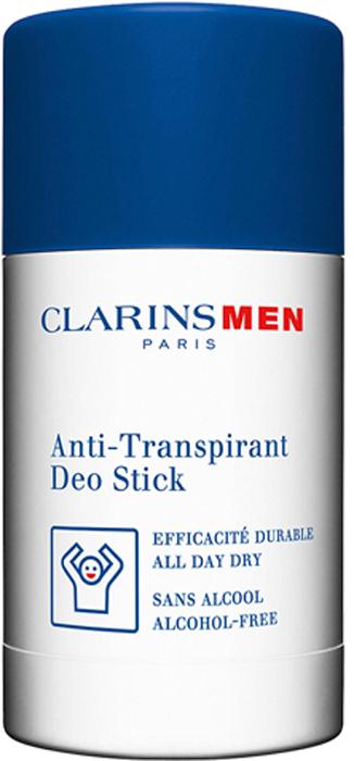 Clarins Дезодорант-стик антиперспирант Men Stick Antiperspirant, 75 г00506100Дезодорант-антиперспирант для мужчин моментально дарит ощущение свежести и комфорта на весь день. Устраняет неприятный запах и контролирует потоотделение, не блокируя работу потовых желез. А формат стика обеспечивает простое и быстрое нанесение без эффекта влажной или липкой пленки.