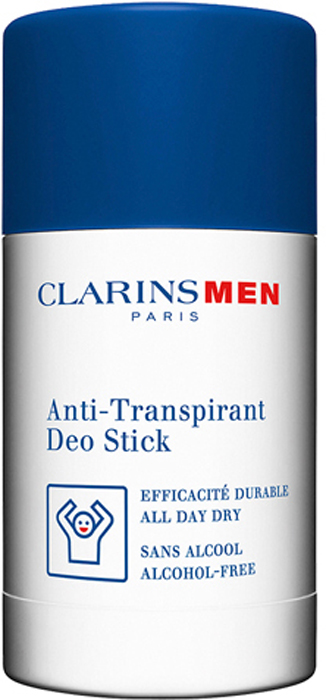 Clarins Дезодорант-стик антиперспирант Men Stick Antiperspirant, 75 г crystal дезодорант crystal stick for men для мужчин 120 г