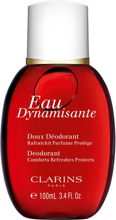 Clarins Смягчающий дезодорант Eau Dynamisante, 100 мл00646100Дезодорант-спрей с ароматом тонизирующей воды Eau Dynamisante. Устраняет неприятный запах и предотвращает его появление, не блокируя работу потовых желез. Помогает сохранять ощущение свежести и комфорта в течение всего дня.