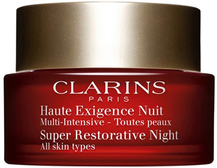 Clarins Восстанавливающий ночной крем интенсивного действия для любого типа кожи Multi-Intensive, 50 мл01097100Высокоэффективное омолаживающее средство ухода, отвечающее всем потребностям зрелой кожи. Его формула обогащена эксклюзивным органическим экстрактом харунганы мадагаскарской, способствующим восстановлению плотности всех слоев кожи*, а также органическим экстрактом монпельенского ладанника, сокращающим пигментацию и выравнивающим тон кожи**. Крем обеспечивает комплексное ухаживающее действие в ночные часы: восстанавливает плотность и упругость кожи, питает и увлажняет ее, способствует сокращению морщин и пигментации. Утром кожа выглядит гладкой, свежей и сияющей. *Лабораторные исследования in vivo и ex vivo **Лабораторные исследования in vitro