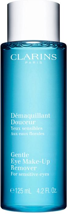 Clarins Смягчающий лосьон для удаления макияжа с глаз Demaquillant Douceur, 125 мл clarins молочко для удаления макияжа для сухой или нормальной кожи lait demaquillant 200 мл