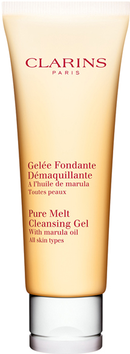 Clarins Очищающий гель для умывания c маслом марулы Gelee Fondante Demaquillante, 125 мл01320100Этот тающий гель, который за несколько секунд превращается в сверхлегкое масло, а затем - в нежное молочко, эффективно удаляет кожный жир, загрязнения и даже стойкий макияж и при этом дарит коже ощущение комфорта. Уникальная текстура, подходящая даже для самой чувствительной кожи, прекрасно очищает, успокаивает и наполняет кожу сиянием.