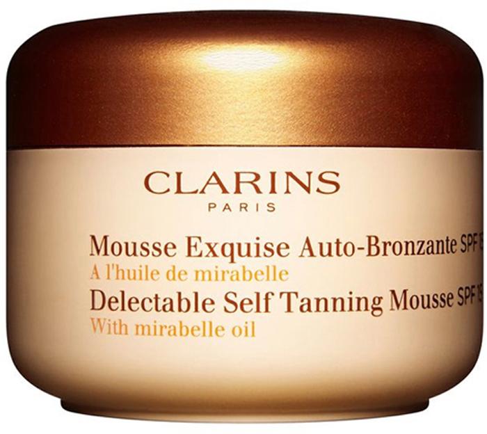 Clarins Мусс для искусственного загара Mousse Exquise Auto-Bronzante SPF 15, 125 мл clarins концентрат с эффектом искусственного загара 15 мл