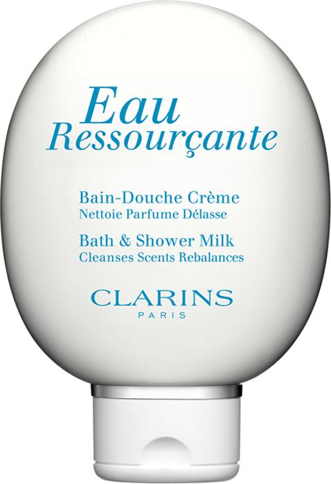 Clarins Крем для принятия душа и ванны Eau Ressourcante, 150 мл clarins eau ressourçante бархатистый крем для тела eau ressourçante бархатистый крем для тела