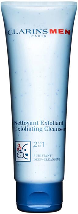"""Clarins Очищающее и отшелушивающее средство для лица """"2 в 1"""" Men Nettoyant Exfoliant, 125 мл"""