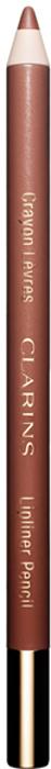 Clarins Карандаш для губ Crayon Levres 02 1,2 г04422610Clarins совершает революцию в макияже, предлагая подбирать карандаш для губ в соответствии с их естественным цветом, а не с цветом помады. Формула нового карандаша Crayon Levres, обогащенная маслом жожоба, обеспечивает легкое комфортное нанесение и четкость контура, который не позволяет помаде растекаться и стойко держится в течение всего дня. А натуральные оттенки подойдут к любому цвету губной помады.