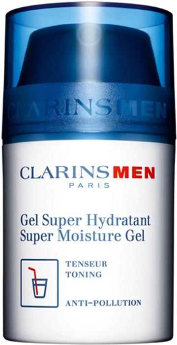 Clarins Интенсивно увлажняющий гель для лица Men Gel Super Hydratant, 50 мл80008286Гель с легкой освежающей текстурой моментально впитывается и устраняет ощущение стянутости. Гиалуронат кальция натурального происхождения дарит коже интенсивное увлажнение и восстанавливает ее защитные механизмы. Ауксины подсолнечника разглаживают и укрепляют кожу. Экстракт синеголовника альпийского успокаивает ее после бритья.