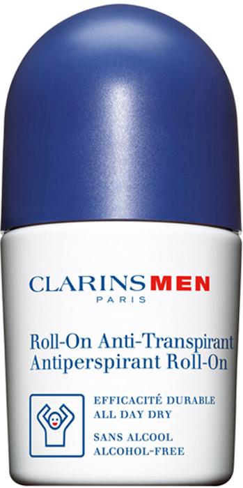 Clarins Дезодорант-антиперспирант шариковый для мужчин Men Antiperspirant Roll-On, 50 мл80012785Шариковый дезодорант-антиперспирант для мужчин нейтрализует действие бактерий, вызывающих появление неприятного запаха, и контролирует потоотделение, не блокируя работу потовых желез. Позволяет сохранять ощущение свежести в течение всего дня.