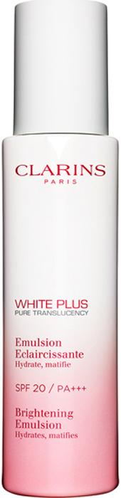 Clarins Матирующая эмульсия, осветляющая тон кожи White Plus SPF 20, 75 мл80018443Эта эмульсия с легкой текстурой матирует, увлажняет кожу и дарит ей ощущение комфорта. Выравнивает и осветляет тон кожи, защищает ее от вредного воздействия УФ-лучей.