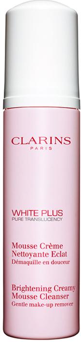 Clarins Очищающий мусс, осветляющий тон кожи White Plus, 150 мл80018455Этот мусс с легкой воздушной текстурой деликатно, но эффективно удаляет с кожи загрязнения, частицы макияжа и излишки кожного жира. Выравнивает и осветляет тон кожи. Дарит ей сияние и ощущение комфорта.