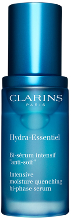 Clarins Интенсивно увлажняющая двухфазная сыворотка Hydra-Essentiel, 30 мл80018814Эта двухфазная сыворотка с легкой комфортной текстурой - настоящее спасение для обезвоженной кожи, испытывающей ощущение сухости и стянутости, утратившей здоровое сияние и подверженной преждевременному появлению признаков старения.Входящий в состав формулы органический экстракт каланхоэ запускает естественные механизмы увлажнения кожи, стимулируя синтез гиалуроновой кислоты*.Хорошо увлажненная кожа становится гладкой и упругой, излучает здоровое сияние и чувствует себя комфортно в любых обстоятельствах.Для максимальной эффективности используйте сыворотку Hydra-Essentiel в сочетании с кремом Hydra-Essentiel, соответствующим вашему типу кожи.*Молекула, обладающая способностью как губка впитывать и удерживать воду во всех слоях кожи.