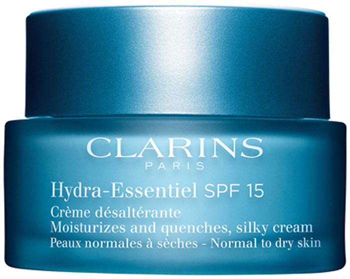 Clarins Интенсивно увлажняющий крем для нормальной и склонной к сухости кожи Hydra-Essentiel, 50 мл80018815Крем с легкой тающей текстурой восстанавливает способность кожи удерживать воду, помогая ей сохранять оптимальный уровень увлажнения в любых обстоятельствах. Входящий в состав формулы органический экстракт каланхоэ запускает естественные механизмы увлажнения кожи, стимулируя синтез гиалуроновой кислоты*. Хорошо увлажненная кожа становится гладкой и упругой, излучает здоровое сияние и чувствует себя комфортно. *Молекула, обладающая способностью как губка впитывать и удерживать воду во всех слоях кожи.