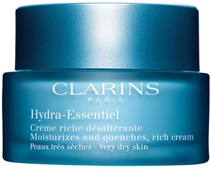 Clarins Интенсивно увлажняющий крем для сухой кожи Hydra-Essentiel, 50 мл80018820Крем с нежной воздушной текстурой моментально дарит даже самой обезвоженной коже ощущение комфорта, не оставляя жирной пленки. Восстанавливает способность кожи удерживать воду, помогая ей сохранять оптимальный уровень увлажнения в любых обстоятельствах. Входящий в состав формулы органический экстракт каланхоэ запускает естественные механизмы увлажнения кожи, стимулируя синтез гиалуроновой кислоты*. Хорошо увлажненная кожа становится гладкой и упругой, излучает здоровое сияние и чувствует себя комфортно. *Молекула, обладающая способностью как губка впитывать и удерживать воду во всех слоях кожи.