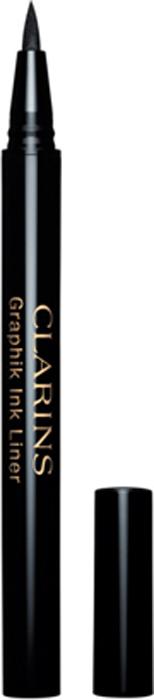 Clarins Подводка-фломастер для глаз Graphik Ink Liner 01, 0,4 мл жидкие подводки beyu подводка фломастер угольно черная для век deep black eye liner long lasting 1 1 2 мл