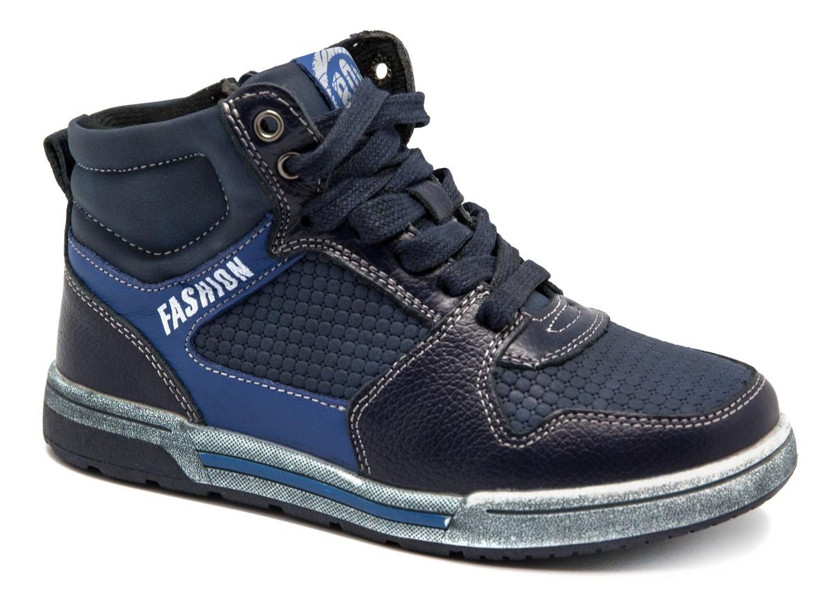 Ботинки для мальчика Счастливый ребенок, цвет: синий. A 3002-2. Размер 33A 3002-2Удобные ботинки Счастливый ребенок, выполненные в спортивном стиле, станут отличным дополнением гардероба маленького непоседы. Ботинки выполнены из искусственной кожи и оформлены контрастной строчкой и контрастными вставками. Подкладка и стелька из мягкого текстиля обеспечивают комфорт и уют во время носки. Классическая шнуровка и застежка-молния с внутренней стороны изделия надежно фиксируют модель на ноге и облегчают надевание. Рифленая подошва из легкого термопластичного материала обеспечивает надежное сцепление с любой поверхностью и защищает от скольжения во время движения.