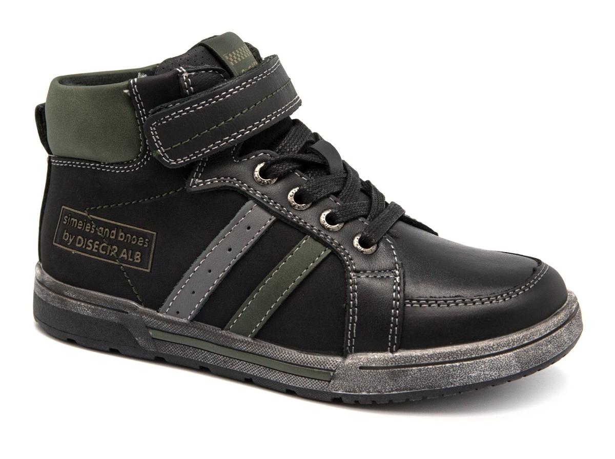 Ботинки для мальчика Счастливый ребенок, цвет: черный. A 3005-1. Размер 35A 3005-1Удобные ботинки Счастливый ребенок, выполненные в спортивном стиле, станут отличным дополнением гардероба маленького непоседы. Ботинки выполнены из искусственной кожи и оформлены контрастной строчкой и контрастными вставками.Подкладка и стелька из мягкого текстиля обеспечивают комфорт и уют во время носки. Классическая шнуровка, липучка и застежка-молния с внутренней стороны изделия надежно фиксируют модель на ноге и облегчают надевание.Рифленая подошва из легкого термопластичного материала обеспечивает надежное сцепление с любой поверхностью и защищает от скольжения во время движения.